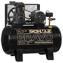 Compressor de Ar Bravo 15 Pés 100 Litros Mono 110/220V