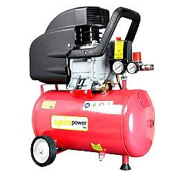 Motocompressor de Ar 2HP 7,4 Pés 24 Litros 220V Spin Power