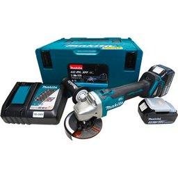 Esmerilhadeira Angular Bivolt com 2 Baterias 18V 3.0Ah, Carregador e Maleta