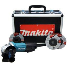Esmerilhadeira Angular de 4-1/2 Pol. 720W 220V com 5 Discos e Maleta
