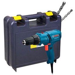 Kit Parafusadeira/ Furadeira 220V Bosch 06014470X + Maleta para Furadeiras + 2 Brocas para Concreto