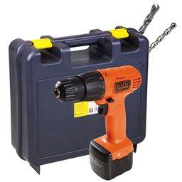Kit Parafusadeira/ Furadeira com Bateria Bivolt Black+Decker CD961 + Maleta para Furadeiras + 2 Brocas para Concreto