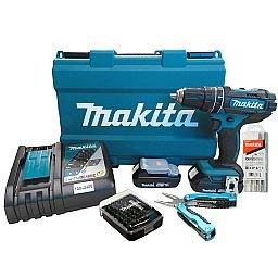 Parafusadeira/Furadeira de Impacto com 2 Baterias 18V + Maleta + Acessórios + Carregador Bivolt