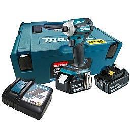 Parafusadeira de Impacto à Bateria com Carregador, 2 Baterias 18V 5.0Ah, Bit e Maleta