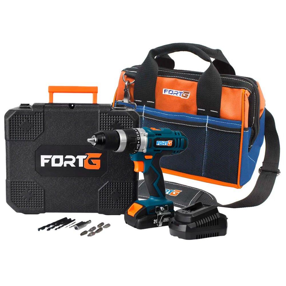 Kit Furadeira/ Parafusadeira de Impacto FORTG-FG3000 20V + Bolsa para Ferramentas Reforçada