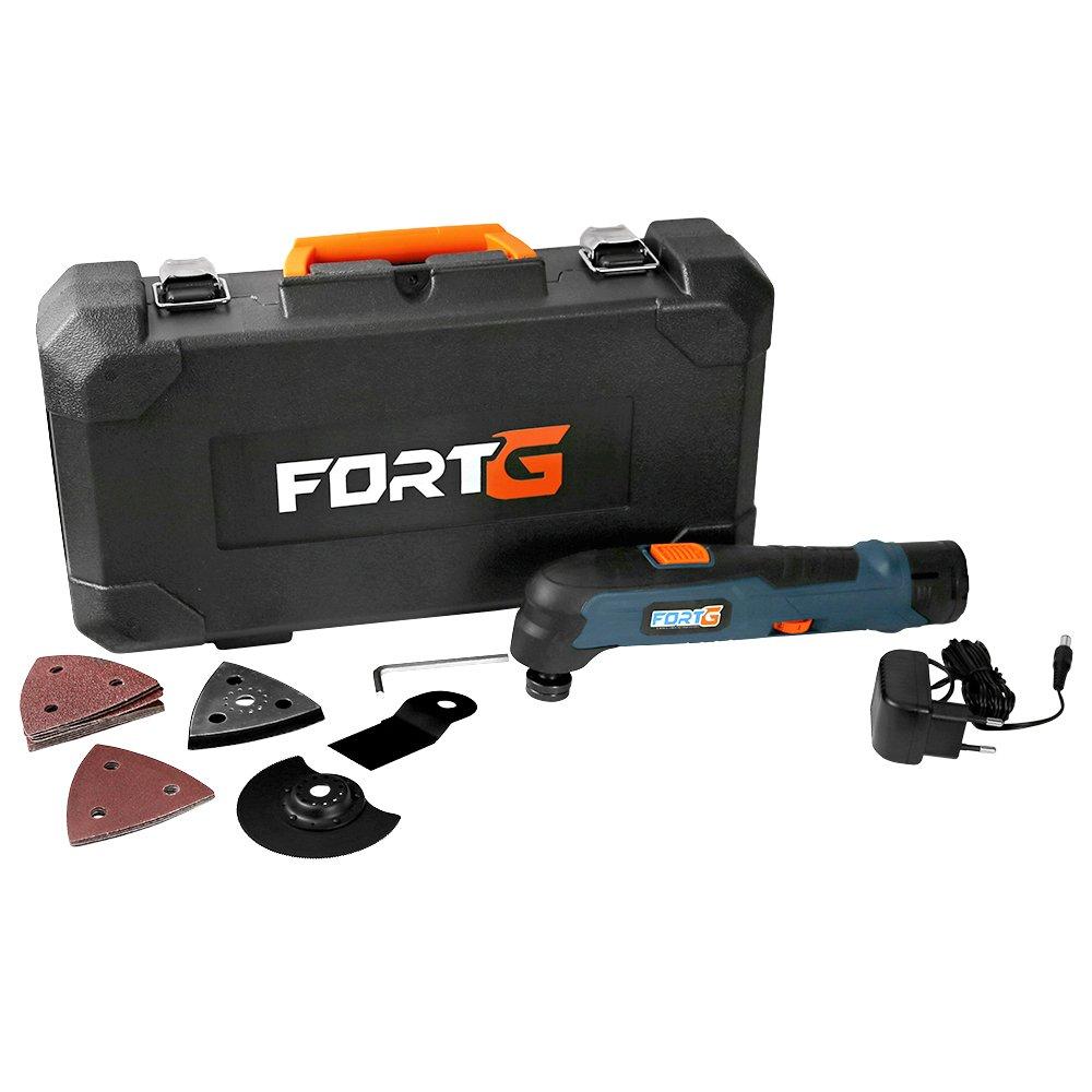 Multicortadora Oscilante 6 Velocidades com Bateria 12V e Maleta com Acessórios
