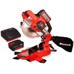 Kit Serra de Esquadria EINHELL-TE-MS18/210LI-SOLO 18V   + Kit Bateria 18V 4.0 com Carregador 18V EINHELL-4512106 Bivolt