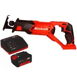 Kit Serra Sabre EINHELL-TE-AP18LI-SOLO 18V 22mm + Kit Bateria 18V 4.0 com Carregador 18V EINHELL-4512106 Bivolt