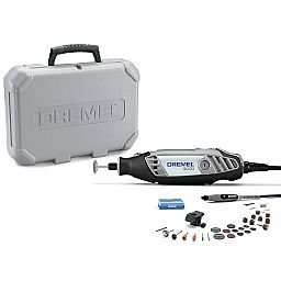 Kit Micro Retífica Série 3000 Vel. Variável 90W  com 2 Acoplamentos e 30 Acessórios