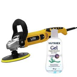 Kit Politriz Angular LITH-LT3000 6 Pol. 220V 1050W + 1 Álcool em Gel Isopropílico Higienizante 70% 90g