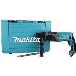 Kit Martelete Combinado 800W 220V com Maleta Makita HR2470 + Ponteiro SDS Plus 250mm