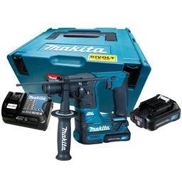 Martelete Rotativo e Rompedor SDS Plus 16mm com 2 Baterias 12V, Carregador Bivolt e Maleta