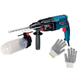 Kit Martelete Perfurador e Rompedor Bosch GBH 224D 820W 2,7J 220V + Luva Tricotada Pigmentada