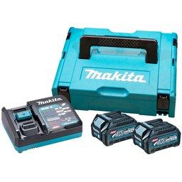 Kit Carregador 110V DC40RA e 2 Bateria 40V 2.5Ah Li-Ion BL4025 com Maleta
