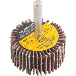 Roda de lixa 40 mm x 20 mm com haste grão 36