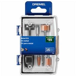 Kit para Polir e Cortar em Metal para Micro Retífica com 16 Peças