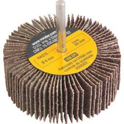 Roda de lixa 80 mm x 30 mm com haste, grão 36 VONDER
