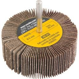Roda de lixa 80 mm x 30 mm com haste, grão 80 VONDER