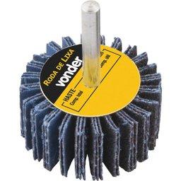 Roda de lixa 80 mm x 30 mm com haste, grão 60 VONDER