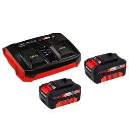 Kit 2 Baterias Power X-Change 18V 4,0Ah Íons de Lítio + Carregador Duplo 3,0Ah Bivolt