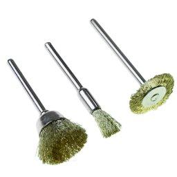 Acessórios para Micro Retífica com 3 Escovas de Bronze