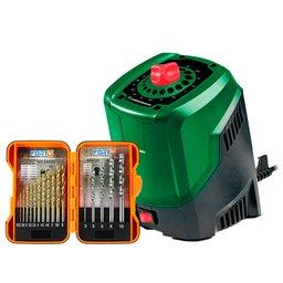 Kit Afiador de Brocas CARBOGRAFITE-0125 3 a 10mm  +  Jogo de Brocas 17 Peças