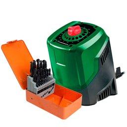 Kit Afiador de Brocas CARBOGRAFITE-0125 de 3 a 10mm  + Jogo de Brocas HSS 25 peças 1 a 13 mm
