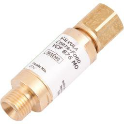 Válvula Corta-Fogo Oxigênio para Maçarico Vcf 676 Mo