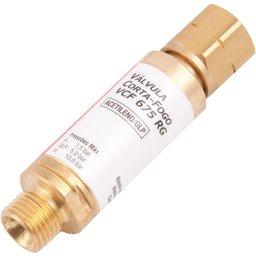Válvula Corta-Fogo Acetileno Para Regulador Vcf 675 Rg