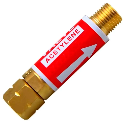 Válvula Corta Fogo Acetileno/GLP para Reguladores de Pressão