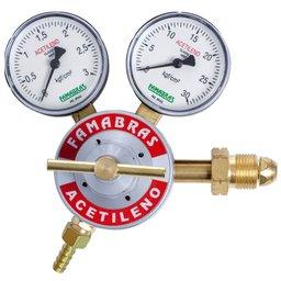 Regulador de Pressão Cilindro Acetileno 25 Kgf/Cm2 8 m3/h