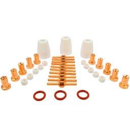 Kit Consumíveis para Tocha Plasma Longo com 36 Peças