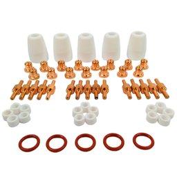 Kit Consumíveis para Tocha Plasma Curto com 55 Peças