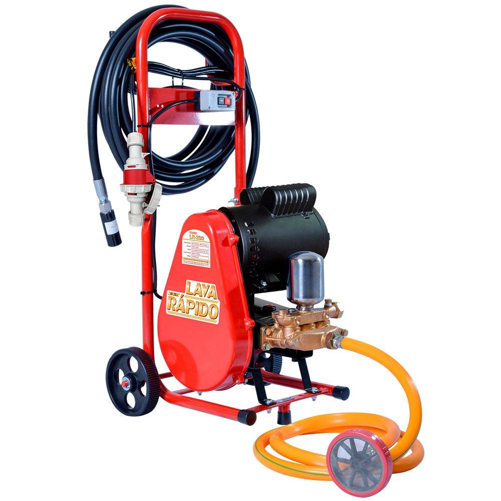 Lavadora Industrial Alta Pressão Motor 3.0CV 420 Libras Trifásico 220V com Carrinho