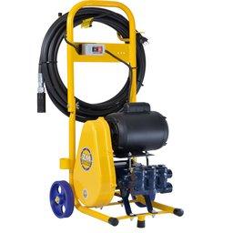 Lavadora de Alta Pressão Motor Nova 1.5CV 500 Libras 15 L/Min  Mono 220V Com Carrinho