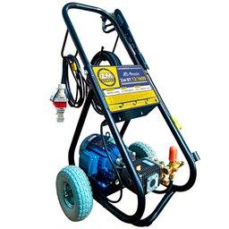 Lavadora de Alta Pressão 12L/min 1600 PSI 4CV 380V Trifásica com Carrinho