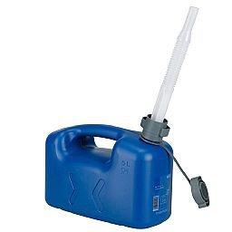 Galão de Polietileno Azul para Água 5 Litros com Extensão