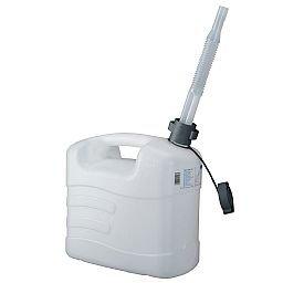 Galão de Polietileno Branco para Água 10 Litros com Extensão