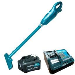 Kit Aspirador de Pó 12V MAKITA-CL100DZX + Bateria Max 4.0Ah BL1041B + Carregador Bivolt  DC10SB