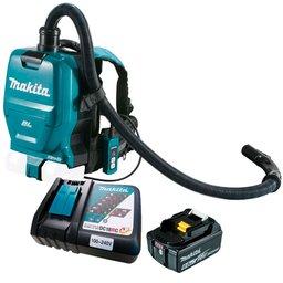 Kit Aspirador de Pó Costal MAKITA-DVC260ZX com Bocal e Tubo + Bateria 6.0 Ah BL1860B + Carregador Bivolt 197522-0