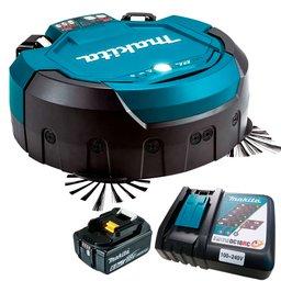 Kit Robô Aspirador de Pó 18V MAKITA-DRC200Z + Bateria 6.0 Ah BL1860B + Carregador Bivolt 197522-0