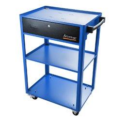Rack Móvel Aberto Azul para Computador