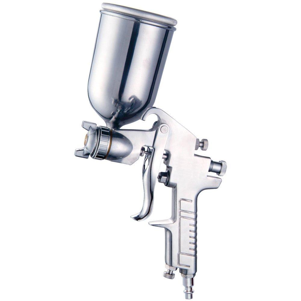 Pistola de Gravidade 350 ml com Caneca de alumínio Giratória