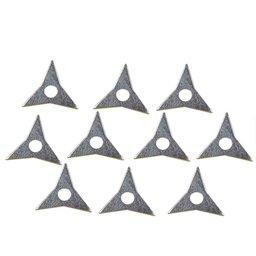Estrela Galvanizada 2mm para Repuxo com 3 pontas com 10 Unidades