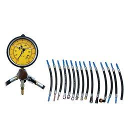 Manômetro para Teste de Pressão e Vazão da Bomba de Combustível com 17 Mangueiras