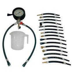 Medidor de Pressão e Teste de Vazão de Combustível 4 Pol. com 17 Mangueiras