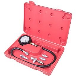 Medidor de Pressão de Óleo - Sistema de Lubrificação 0 a 170 bar com 5 Adaptadores e Estojo