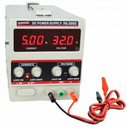 Fonte de Alimentação Digital Assimétrica 1 Canal até 5A FA-3005