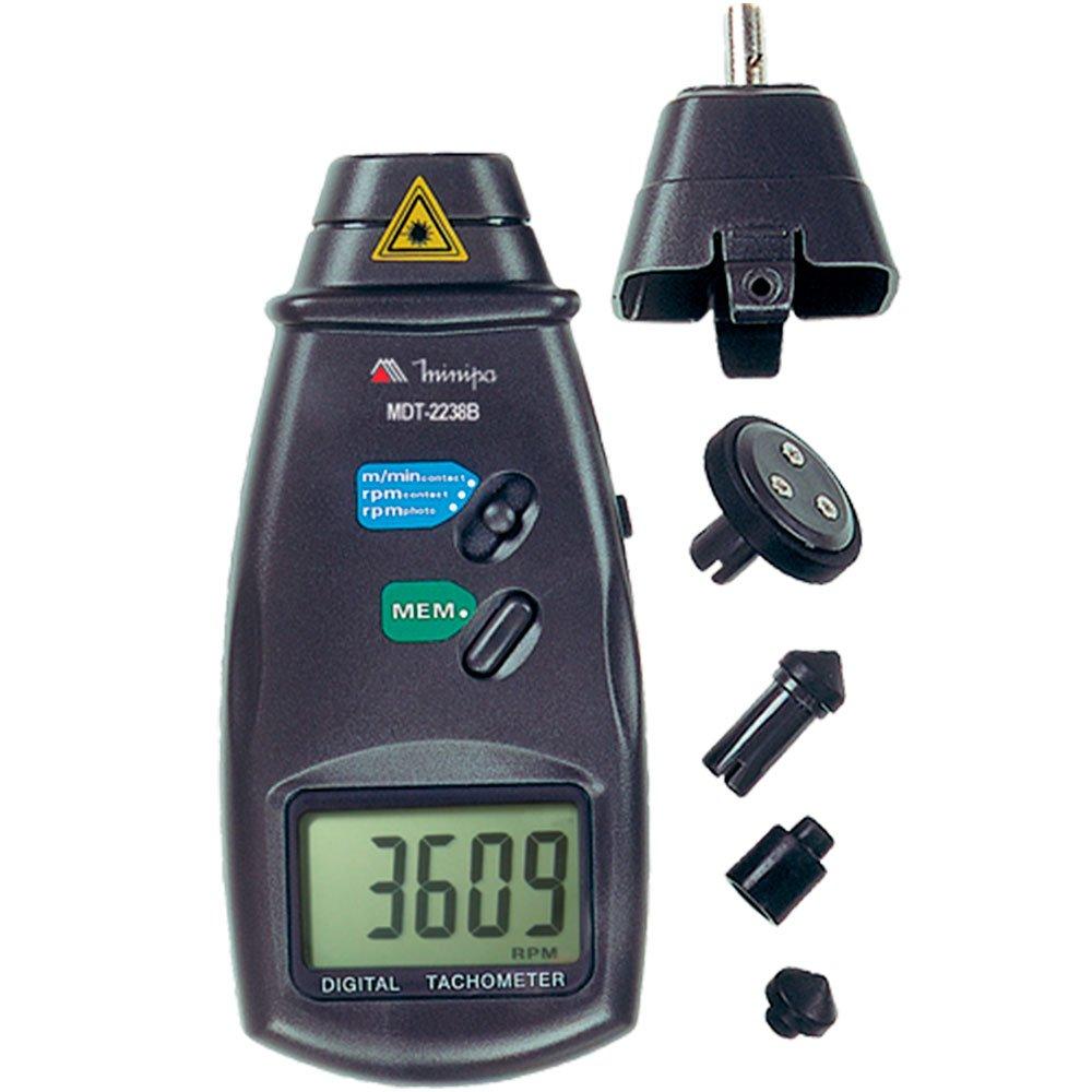 Tacômetro Foto/ Contato Digital LCD