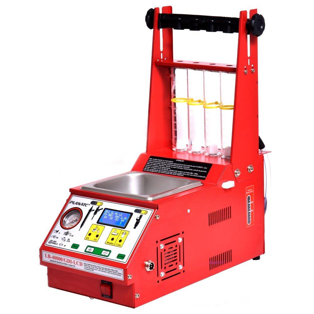 Máquina Limpeza/Teste Injetores Padrão/GDI Display Digital LCD 34 Funções com Estrobo e Cuba 1L